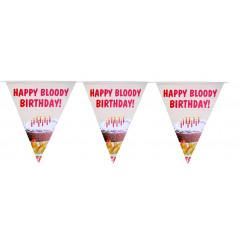 Flaggspel Happy Bloody Birthday!