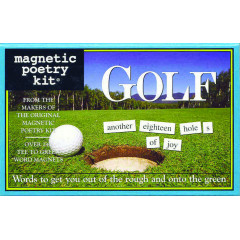 Magnetic Poetry - Golf