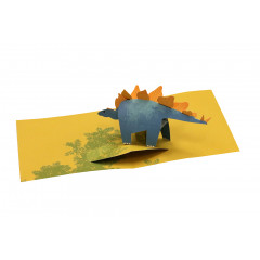 Pop up kort Stegosaurus